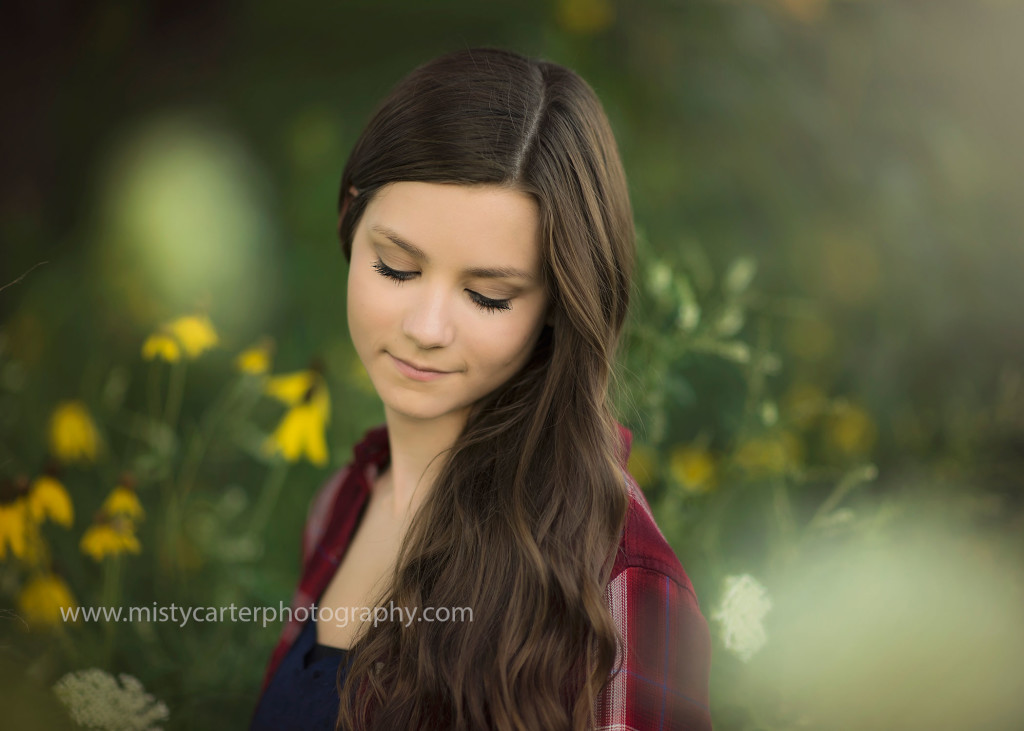 calm and relaxed for senior pictures