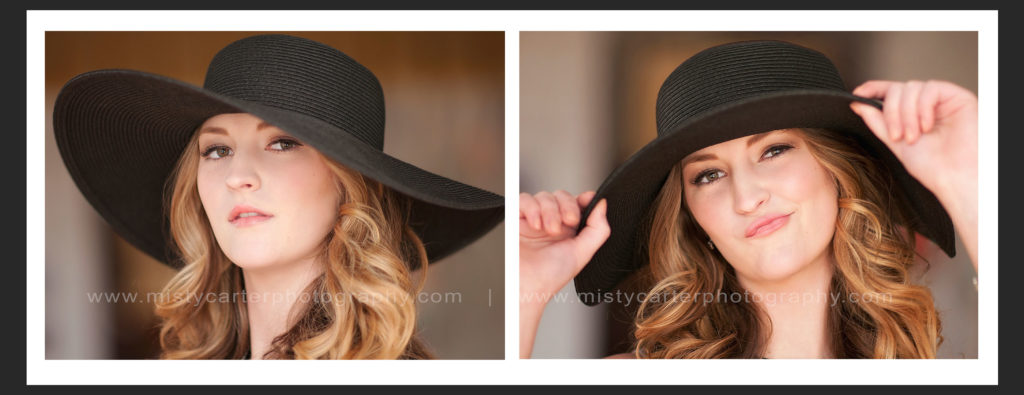 sassy girl in black hat