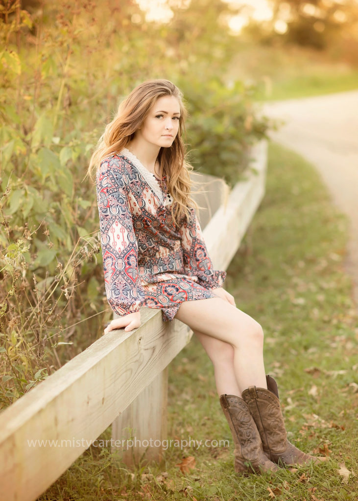 country girl in cowboy boots