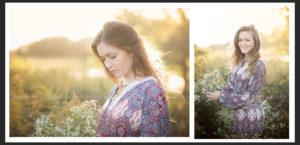 country sunset senior girl