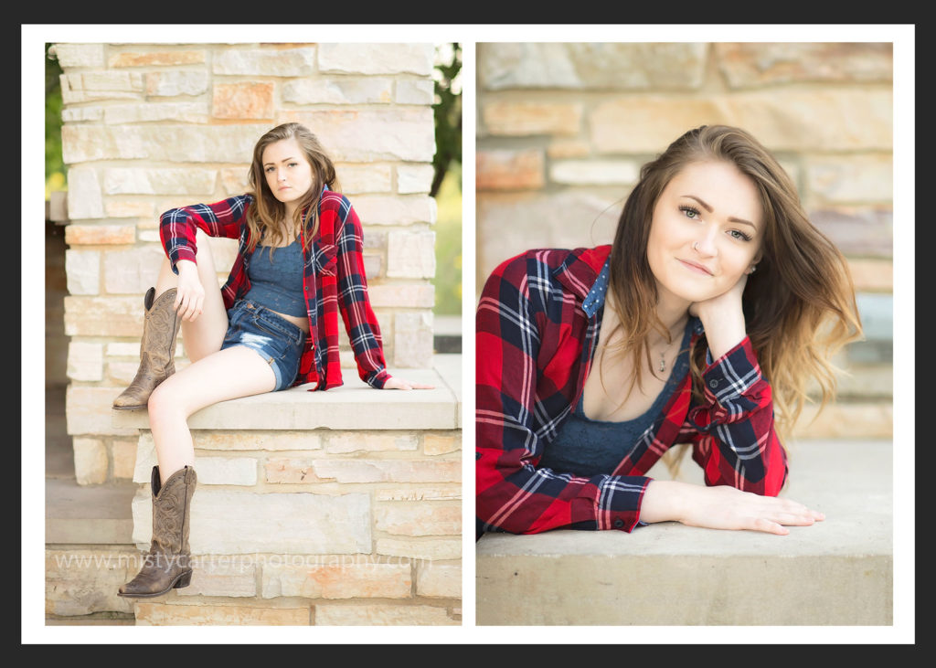 country cowboy boots and flannel senior girl pictures