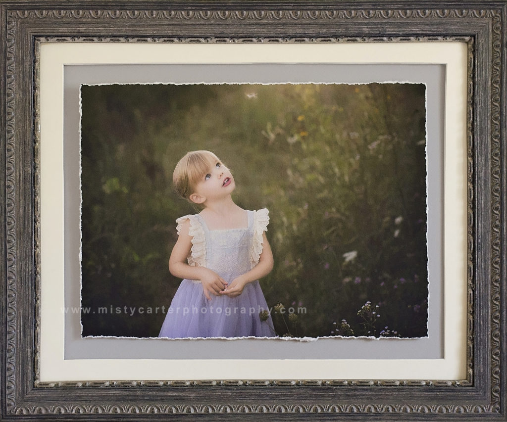 child portrait framed art print
