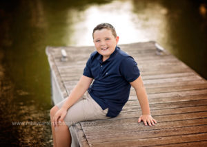 boy on pier for portrait