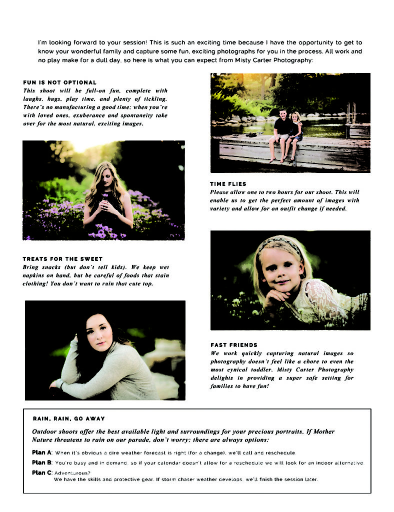 what to expect the day of your photo session